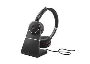 Jabra Evolve 75 MS Stereo, Headset and Base 1