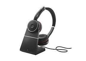 Jabra Evolve 75 MS Stereo, Headset and Base 1