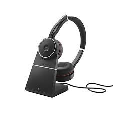 Jabra Evolve 75+ UC Stereo, Headset and Base 1